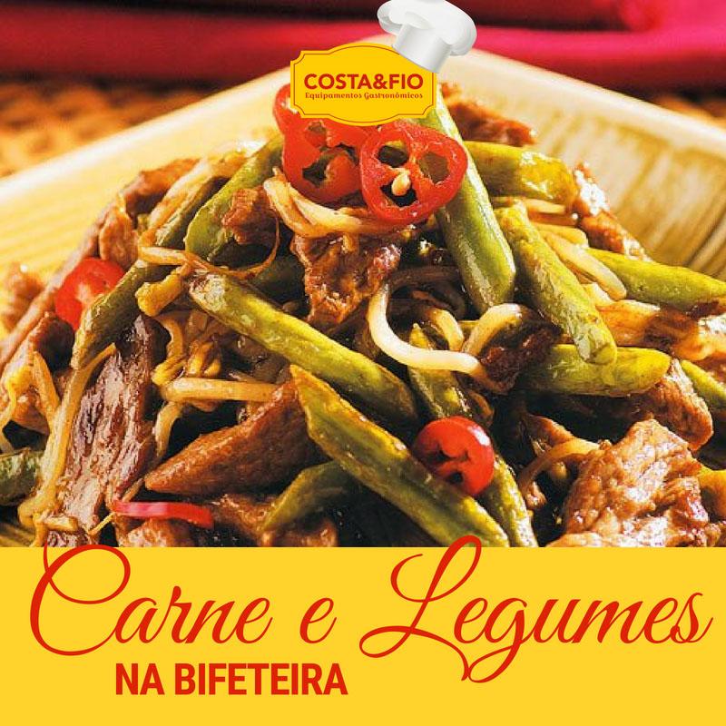 Receita de carne com legumes na bifeteira