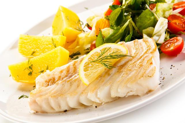 Filé de peixe grelhado na bifeteira Costa & Fio